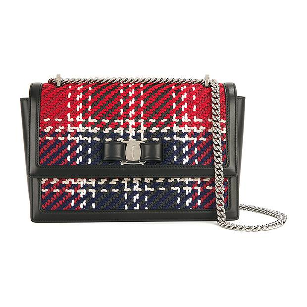 Salvatore Ferragamo Vara shoulder bag, $1,514 through www.farfetch.com.