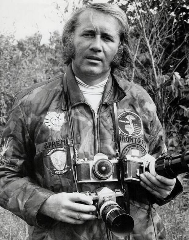Photographer Boris Spremo in Vietnam in Feb. 1973.