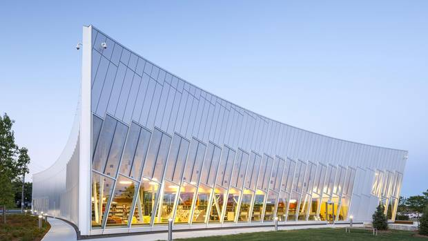 The Vaughan Civic Centre Resource Library, by ZAS Architects.