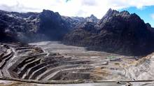 A general view of a giant mine run by U.S. firm Freeport-McMoran Cooper & Gold Inc., at the Grassberg mining operation, in Indonesia's Papua province is seen in this July 22, 2005 file photograph. (STRINGER/INDONESIA/REUTERS)