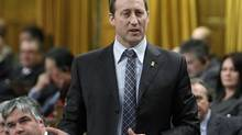 Justice Minister Peter MacKay stands in the House of Commons during Question Period on Parliament Hill, in Ottawa Tuesday, March 4, 2014. (FRED CHARTRAND/THE CANADIAN PRESS)