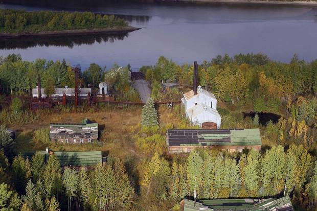 Bitumount's riverside location at Fort McMurray is seen in 2011.