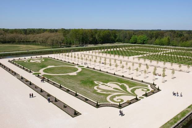 The 18th century formal French garded at Chateau de Chambord has been recreated following years of historical research.