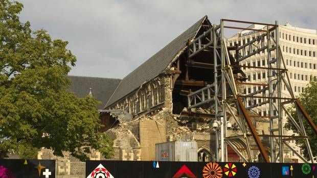 Christchurch Cathedral is still rebuilding two years after the earthquakes. (Dominic Schaefer)