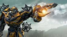 Bumblebee is just one of the Autobots to answer Opimus's call. (ILM/Paramount)