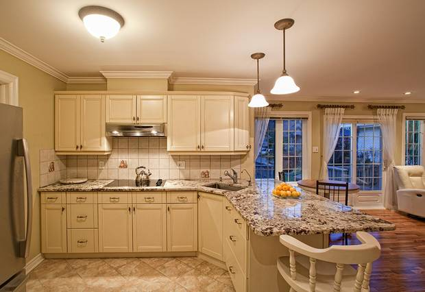 The kitchen in the Ouellette's attached in-law suite.
