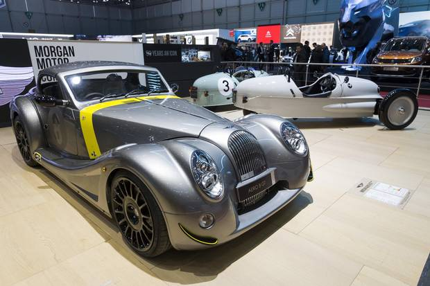 The new Morgan Aero GT presented on Wednesday, March 7, 2018.