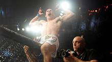 Fighter Rory MacDonald reacts after defeating Nate Diaz during a welterweight bout at UFC 129 in Toronto on April 30, 2011. Canadian Rory (Ares) MacDonald could headline UFC 152 in Toronto. (Nathan Denette/THE CANADIAN PRESS)