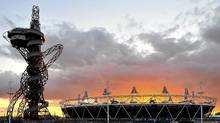 The Olympic Stadium and Orbit tower at the Olympic Park in Stratford, London. (TOBY MELVILLE/REUTERS)