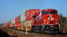Canadian Pacific Railway Ltd said on Tuesday that it should start shipping crude oil this summer from a soon-to-be-completed oil terminal in North Dakota's prolific Bakken shale prospect. (CP Rail/CP Rail)