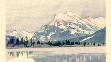 Mount Rundle as captured in 1949 by Walter J. Phillips, an artist who came for a visit and stayed 20 years. (Collection of the Whyte Museum of the Canadian Rockies)