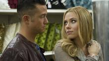 Joseph Gordon-Levitt and Scarlett Johansson in a scene from Don Jon, a movie that examines the unrealistic expectations generated by all sorts of celluloid products. (Daniel McFadden/AP)