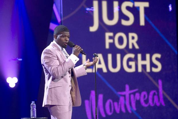 NHL player P.K. Subban was one of many celebrities who graced the Just for Laughs stage.