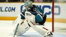 Antti Niemi #31 of the San Jose Sharks in action during their preseason game against the Anaheim Ducks at HP Pavilion on September 24, 2010 in San Jose, California. (Ezra Shaw/2010 Getty Images)
