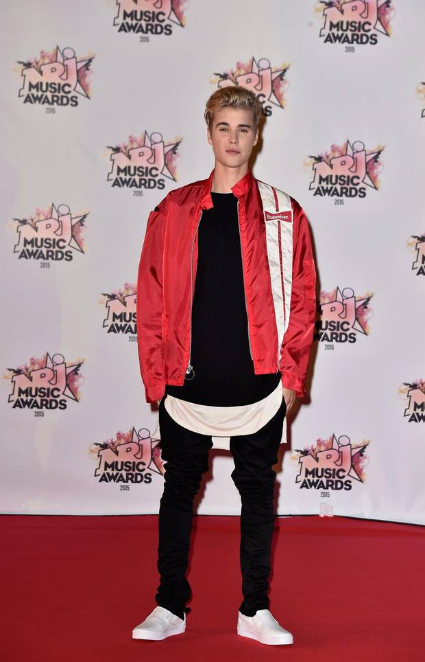 Justin Bieber attends the 17th NRJ Music Awards at Palais des Festivals in November in Cannes, France.