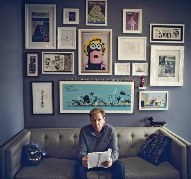 Dave Rosenbaum, CEO of Cinesite, reads a script in his office in Montreal.