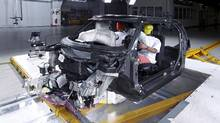 BMW's experimental vehicle platform made from carbon fibre reinforced plastic. (BMW)
