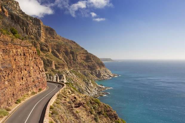 Chapman's Peak Drive on the Cape Peninsula near Cape Town.