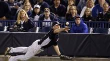 Dan Johnson as a member of the New York Yankees during spring training (Matt Slocum/The Associated Press)