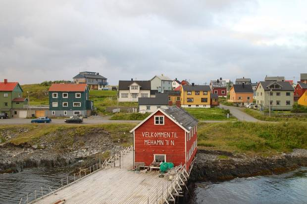 The picturesque fishing village of Mehamn in Finnmark province is getting close to journey's end at Kirkenes.