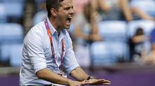 Canada head coach John Herdman reacts (Hussein Malla/The Associated Press)
