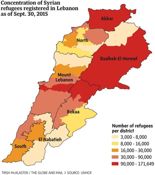 As of 6 May 2015, UNHCR Lebanon temporarily suspended new registration as per Government of Lebanon's instructions. Total, the UN's refugee agency estimates there are 1,075,637 registered Syrian refugees living in Lebanon, a country of slightly more than 4 million people.