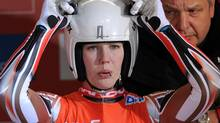 Alex Gough of Calgary is expected to be part of Canada's mixed relay team in luge at the Sochi Games. (Tobias Hase/The Associated Press)