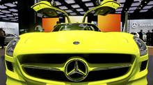 Mercedes Benz SLS AMG E-Cell (Paul Sancya/AP Photo)