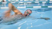 Mark Aboud often works out with a masters swim team in Toronto. The executive broke several Canadian masters records when he turned 40. (Peter Power)