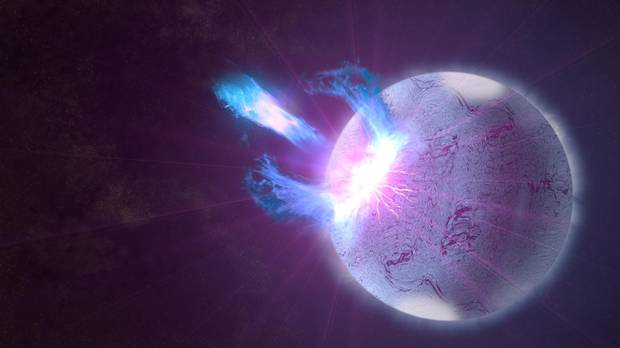 Fast radio bursts could be caused by ruptures in powerfully magnetized and dense objects known as magnetars.