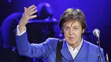 Sir Paul McCartney performs on stage on November 30, 2011, at the Bercy Palais-Omnisport (POPB) in Paris. (PATRICK KOVARIK/PATRICK KOVARIK / AFP/Getty Images)