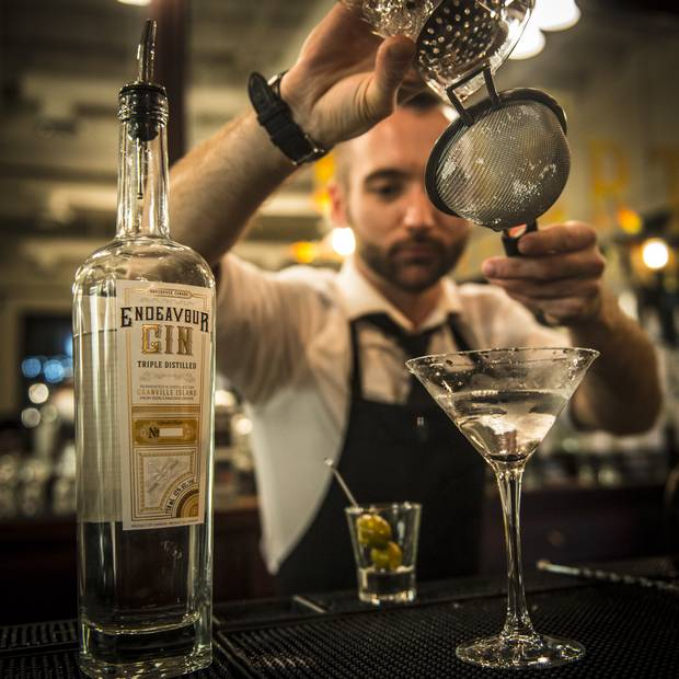 Cocktail hour begins at 11 a.m. daily at Liberty Distillery's 100-year-old antique bar, where you can sip signature drinks or try a tasting flight of its triple-distilled, 100-per-cent organic, B.C. wheat-based gins and vodka.