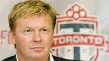 Toronto FC soccer club head coach Mo Johnston listens to a question during a news conference in Toronto on Monday Jan. 15, 2007. (CP PHOTO/Frank Gunn) (Frank Gunn)