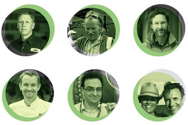 Clockwise from top left: John Bil, Steve Johansen, Mike McDermid, Kristin and Dan Donovan, Cornel Ceapa and Ned Bell.