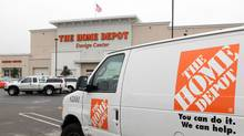 A Home Depot rental van is parked in front of a Home Depot store in Daly City, Calif. (Justin Sullivan/Getty Images)