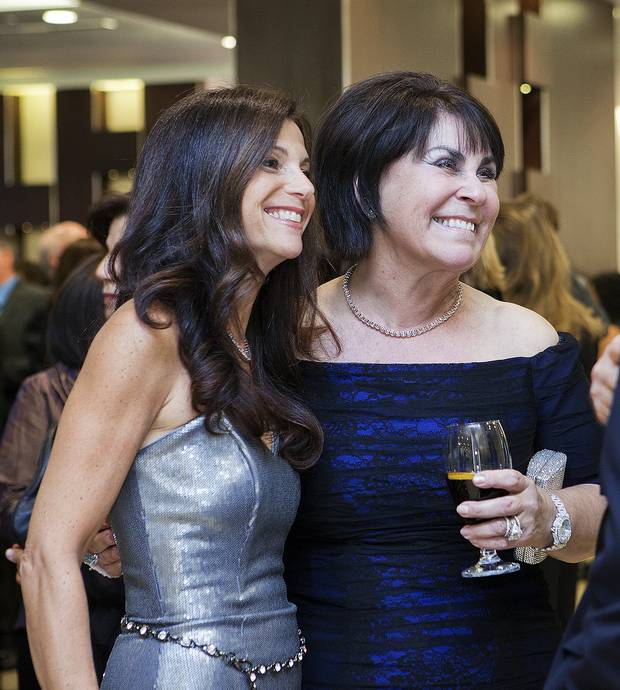 Linda Waks (left) and Honey Sherman, event co-chair and winner of Dancing With our Stars 2011, at Dancing with our Stars in support of the Baycrest Foundation at the Allstream Centre in Toronto.