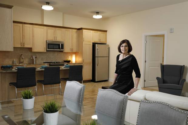 Francesca Lépine-Willson, one of the owners of the Les Terrassess Francesca in Ottawa, says upscale apartments suit a couple of key demographics – younger people with dynamic careers and older people looking to downsize without giving up amenities.
