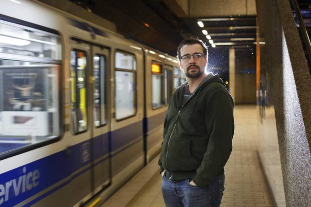 Chris Sampson, seen at Churchill Station in Edmonton, risked his life to save a stranger who had fallen on the LRT tracks. After the rescue, he simply went to school, though he was eventually awarded a medal for bravery after his proud mother outed him to the media.