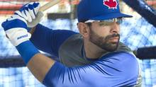 Toronto Blue Jays Jose Bautista takes batting practice at the team's MLB baseball spring training facility in Dunedin Florida February 12, 2013. (Fred Thornhill/REUTERS)