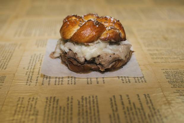 The beef on a weck.