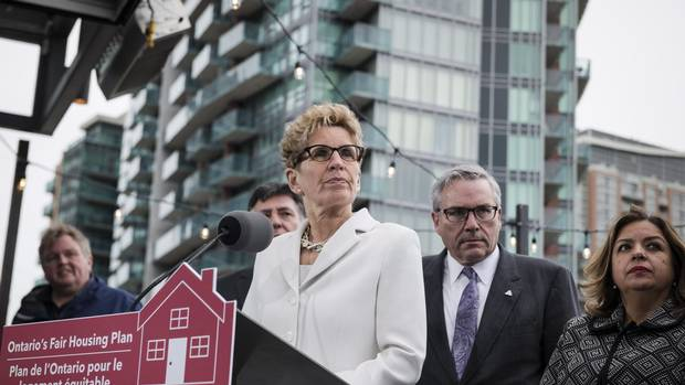 Ontario Premier Kathleen Wynne speaks about Ontario's Fair Housing Plan during a press conference in Toronto on Thursday.