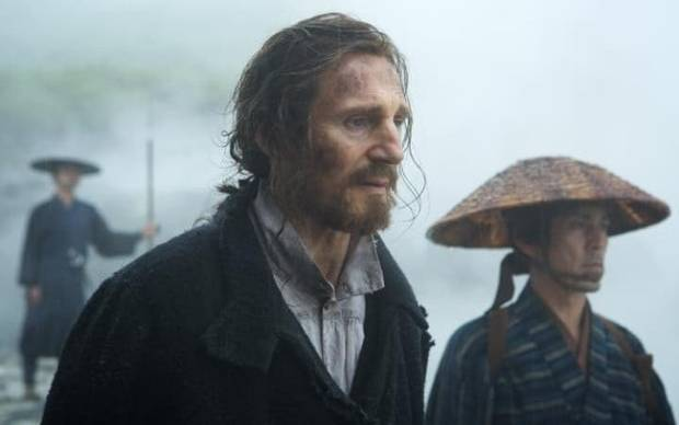 Liam Neeson in Martin Scorsese's Silence, about two young Portuguese Jesuit priests who risk their lives and faith to travel to Japan to investigate rumours that their mentor has committed apostasy.