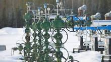 Natural gas wellheads at Shell Canadas Groundbirch site in northeastern British Columbia. (Ian Jackson/Shell International Ltd.)