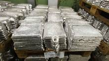 Unrefined pieces of silver are stacked at the KGHM copper and precious metals smelter processing plant in Glogow. (PETER ANDREWS/Reuters)