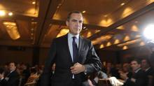 Mark Carney gave a speech in Toronto on Tuesday. (Fred Lum/The Globe and Mail)