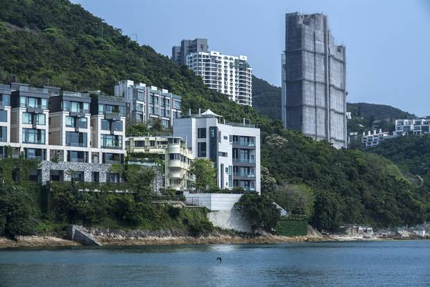 The Hong Kong home, among a cluster of oceanside buildings by Repulse Bay, of Chinese billionaire Guo Wengui,