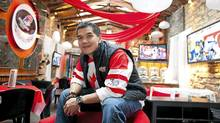 Wayne Leong, owner of Melrose Cafe and Bar in Calgary, has seen bigger crowds over the past few days with the world juniors in town. (Chris Bolin for The Globe and Mail)