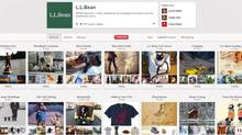 "L.L. Bean's most popular Pinterst board is devoted to pictures of woodland creatures – its most popular pin is a picture of a cat dressed up to look like a bat. ""While we do measure traffic coming to llbean.com and llbeansignature.com from Pinterest, we are not currently promoting the platform as a selling channel,"" says Laurie Brooks, senior public relations representative for the company (Pinterest)"