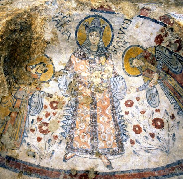 The frescoes in the Crypt of the Original Sin date back to the ninth century.