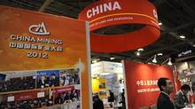 The Chinese Ministry of Lands and Resources booth at the 2012 PDAC (Prospectors & Developers Association of Canada) conference in Toronto. (Fred Lum/The Globe and Mail)